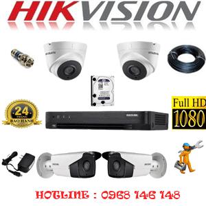 TRỌN BỘ 4 CAMERA HIKVISION 2.0MP (HIK-22728)-HIK-22728