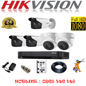 TRỌN BỘ 5 CAMERA HIKVISION 2.0MP (HIK-22738)-HIK-22738
