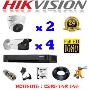 TRỌN BỘ 6 CAMERA HIKVISION 2.0MP (HIK-22748)-HIK-22748