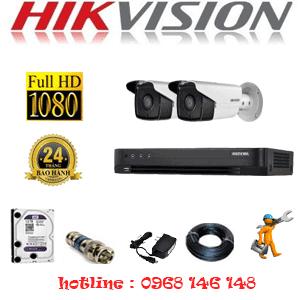 TRỌN BỘ 2 CAMERA HIKVISION 2.0MP (HIK-22800)-HIK-22800