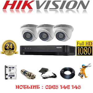 TRỌN BỘ 3 CAMERA HIKVISION 2.0MP (HIK-23300F)-HIK-23300F