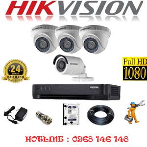 Lắp Đặt Trọn Bộ 4 Camera Hikvision 2.0Mp (Hik-23314F)-HIK-23314F