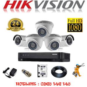 TRỌN BỘ 5 CAMERA HIKVISION 2.0MP (HIK-23324F)-HIK-23324F