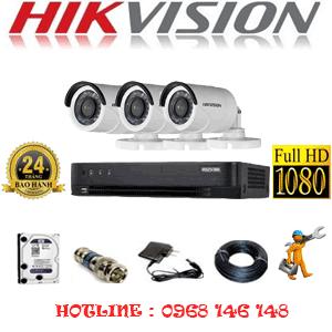 TRỌN BỘ 3 CAMERA HIKVISION 2.0MP (HIK-23400F)-HIK-23400F