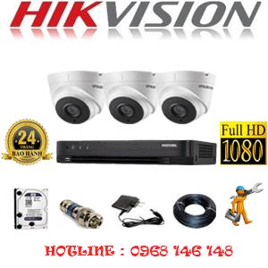 TRỌN BỘ 3 CAMERA HIKVISION 2.0MP (HIK-23700)-HIK-23700