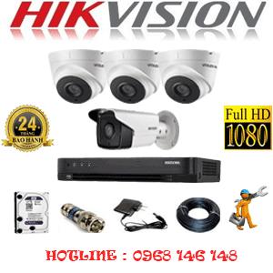Lắp Đặt Trọn Bộ 4 Camera Hikvision 2.0Mp (Hik-23718)-HIK-23718