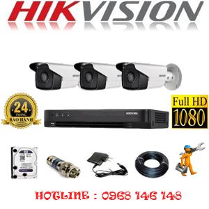 TRỌN BỘ 3 CAMERA HIKVISION 2.0MP (HIK-23800)-HIK-23800