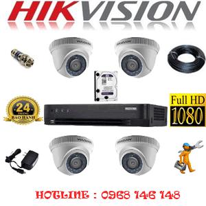 Lắp Đặt Trọn Bộ 4 Camera Hikvision 2.0Mp (Hik-24300F)-HIK-24300F