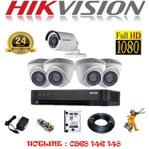 Lắp Đặt Trọn Bộ 5 Camera Hikvision 2.0Mp (Hik-24314F)-HIK-24314F