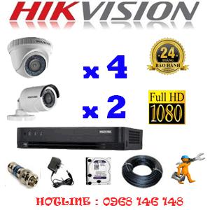 Trọn Bộ 6 Camera Hikvision 2.0Mp (Hik-24324F)-HIK-24324F