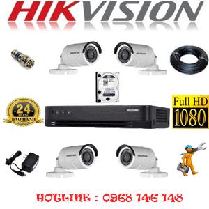 TRỌN BỘ 4 CAMERA HIKVISION 2.0MP (HIK-24400F)-HIK-24400F