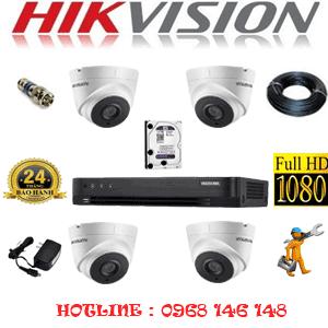Lắp Đặt Trọn Bộ 4 Camera Hikvision 2.0Mp (Hik-24700)-HIK-24700