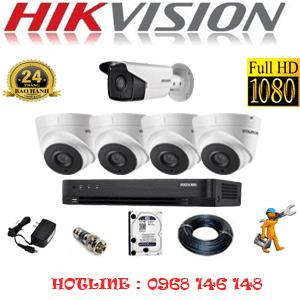 Lắp Đặt Trọn Bộ 5 Camera Hikvision 2.0Mp (Hik-24718)-HIK-24718
