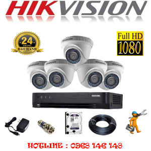 Lắp Đặt Trọn Bộ 5 Camera Hikvision 2.0Mp (Hik-25300F)-HIK-25300F