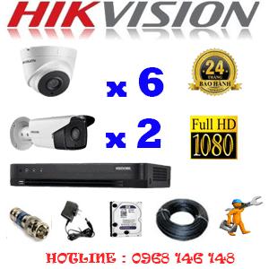 TRỌN BỘ 8 CAMERA HIKVISION 2.0MP (HIK-26728)-HIK-26728