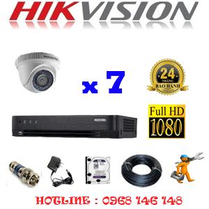 TRỌN BỘ 7 CAMERA HIKVISION 2.0MP (HIK-27300F)-HIK-27300F