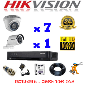 Lắp Đặt Trọn Bộ 8 Camera Hikvision 2.0Mp (Hik-27314F)-HIK-27314F
