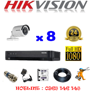 TRỌN BỘ 8 CAMERA HIKVISION 2.0MP (HIK-28400F)-HIK-28400F