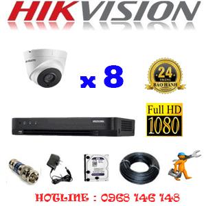 TRỌN BỘ 8 CAMERA HIKVISION 2.0MP (HIK-28700)-HIK-28700