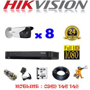 TRỌN BỘ 8 CAMERA HIKVISION 2.0MP (HIK-28800)-HIK-28800