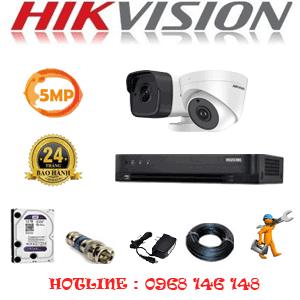 Lắp Đặt Trọn Bộ 2 Camera Hikvision 5.0Mp (Hik-519110)-HIK-519110