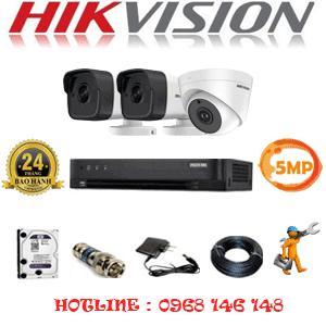 TRỌN BỘ 3 CAMERA HIKVISION 5.0MP (HIK-519210)-HIK-519210