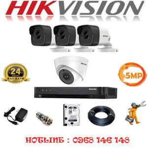 TRỌN BỘ 4 CAMERA HIKVISION 5.0MP (HIK-519310)-HIK-519310