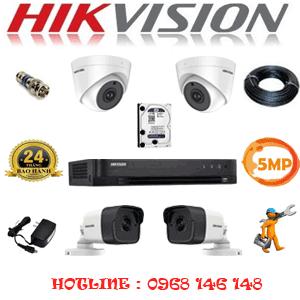 TRỌN BỘ 4 CAMERA HIKVISION 5.0MP (HIK-529210)-HIK-529210