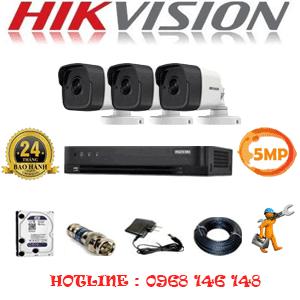 TRỌN BỘ 3 CAMERA HIKVISION 5.0MP (HIK-531000)-HIK-531000