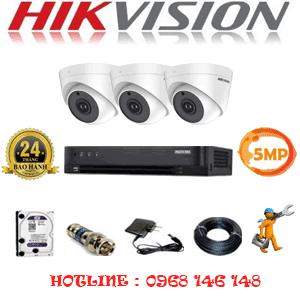 Trọn Bộ 3 Camera Hikvision 5.0Mp (Hik-53900)-HIK-53900