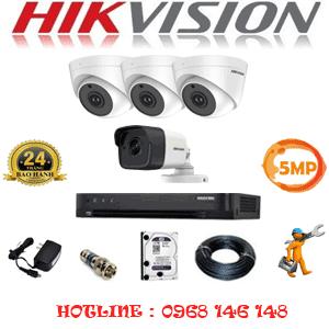 Lắp Đặt Trọn Bộ 4 Camera Hikvision 5.0Mp (Hik-539110)-HIK-539110