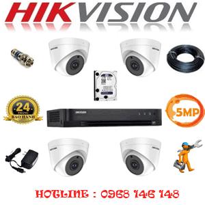 Lắp Đặt Trọn Bộ 4 Camera Hikvision 5.0Mp (Hik-54900)-HIK-54900