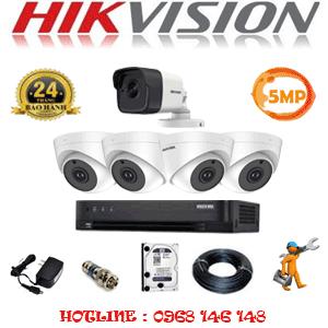 Lắp Đặt Trọn Bộ 5 Camera Hikvision 5.0Mp (Hik-549110)-HIK-549110