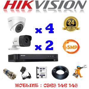 TRỌN BỘ 6 CAMERA HIKVISION 5.0MP (HIK-549210)-HIK-549210