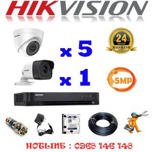 Lắp Đặt Trọn Bộ 6 Camera Hikvision 5.0Mp (Hik-559110)-HIK-559110
