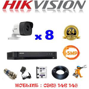 TRỌN BỘ 8 CAMERA HIKVISION 5.0MP (HIK-581000)-HIK-581000