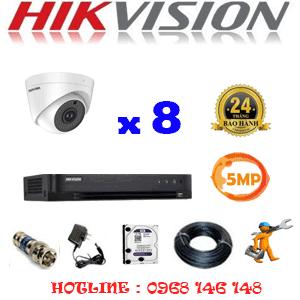 TRỌN BỘ 8 CAMERA HIKVISION 5.0MP (HIK-58900)-HIK-58900