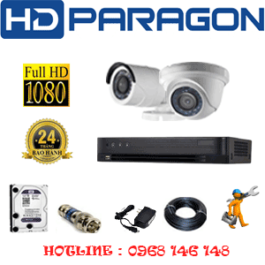 TRỌN BỘ 2 CAMERA HDPARAGON 2.0MP (PRG-21314F)-PRG-21314F