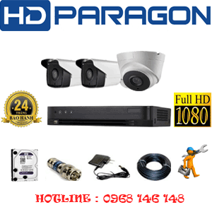 Trọn Bộ 3 Camera Hdparagon 2.0Mp (Prg-21728)-PRG-21728