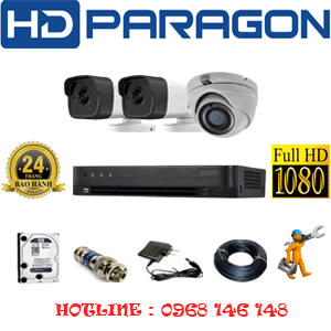 Trọn Bộ 3 Camera Hdparagon 2.0Mp (Prg-219210)-PRG-219210