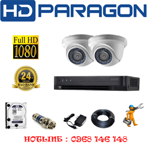 TRỌN BỘ 2 CAMERA HDPARAGON 2.0MP (PRG-22300F)-PRG-22300F
