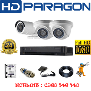 Trọn Bộ 3 Camera Hdparagon 2.0Mp (Prg-22314F)-PRG-22314F