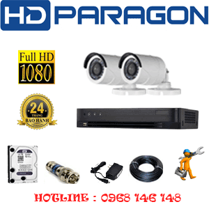 TRỌN BỘ 2 CAMERA HDPARAGON 2.0MP (PRG-22400F)-PRG-22400F