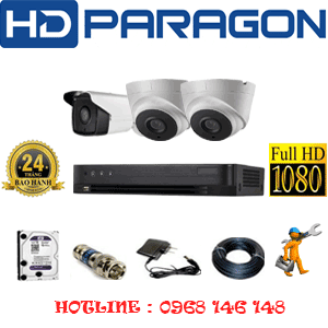 Trọn Bộ 3 Camera Hdparagon 2.0Mp (Prg-22718)-PRG-22718