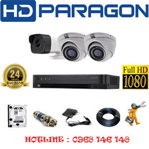 Trọn Bộ 3 Camera Hdparagon 2.0Mp (Prg-229110)-PRG-229110