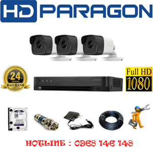 Trọn Bộ 3 Camera Hdparagon 2.0Mp (Prg-231000)-PRG-231000