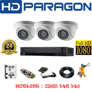 Trọn Bộ 3 Camera Hdparagon 2.0Mp (Prg-23300F)-PRG-23300F