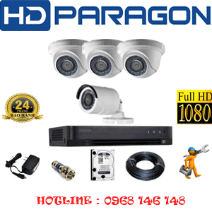 TRỌN BỘ 4 CAMERA HDPARAGON 2.0MP (PRG-23314F)-PRG-23314F