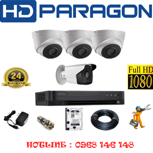 TRỌN BỘ 4 CAMERA HDPARAGON 2.0MP (PRG-23718)-PRG-23718