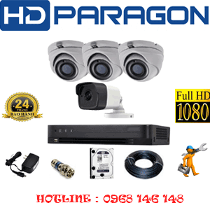 TRỌN BỘ 4 CAMERA HDPARAGON 2.0MP (PRG-239110)-PRG-239110